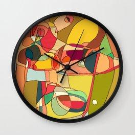 my strange head Wall Clock