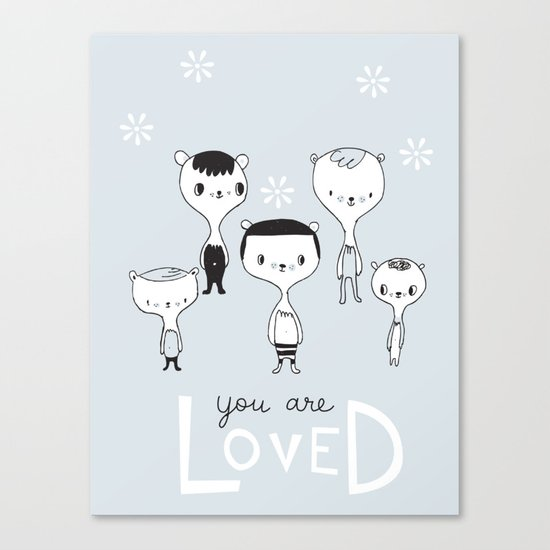 You are Loved Canvas Print