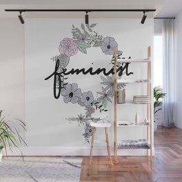 Feminist - in color Wall Mural
