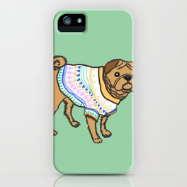 Pugs in sweaters iPhone Case