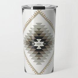 Beige Aztec Travel Mug