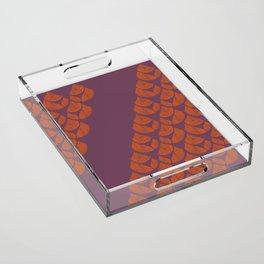 Orange Drops Acrylic Tray
