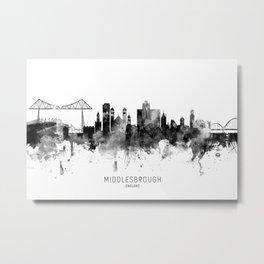 Middlesbrough England Skyline Metal Print