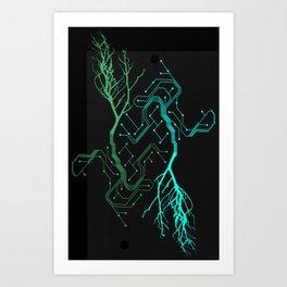 Techno Tree Art Print
