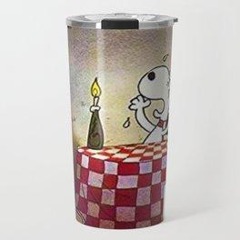 1980 Vintage Bon Voyage Charlie Brown, Woodstock, and Snoopy Lobby Card Poster Travel Mug