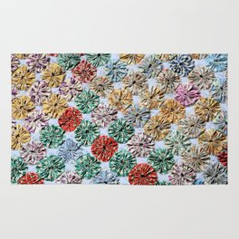 Handmade YoYo Quilt Rug