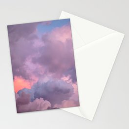 Pink and Lavender Clouds Stationery Cards