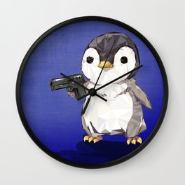 Cubic penguin power Wall Clock