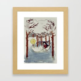 leave it all behind Framed Art Print