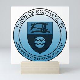 Scituate, Rhode Island Town Emblem - Logo, Incorporated 1731 Mini Art Print