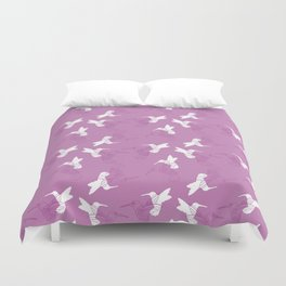 Humming Bird Pink Duvet Cover