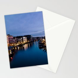 Amazing  Venice  Italy  travel  wanderlust, blue sea canals, night in Venice   canal  bridge  tour Stationery Cards