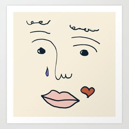 Left Hand Woman's Feelings Art Print