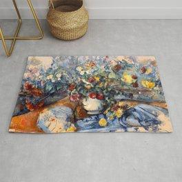 "Paul Cezanne ""A Large Bouquet of Flowers "" Rug"