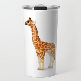 Cute giraffe. Vector graphic character Travel Mug