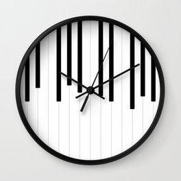 Piano keys, music background #society6 #decor #buyart #artprint Wall Clock