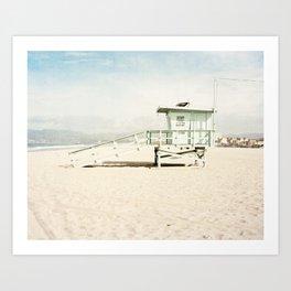 Venice Beach Tower Art Print