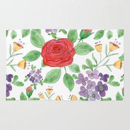 Watercolor floral pattern .8 Rug