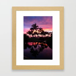 Sanibel Island Sunset at Pointe Santo Framed Art Print