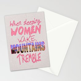 When Sleeping Women Wake Stationery Cards
