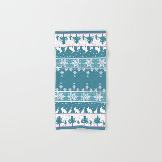 Retro .Christmas . Hand & Bath Towel