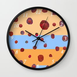 Red meteorites Wall Clock