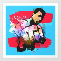ali Art Prints featuring Ali by BIG Colours