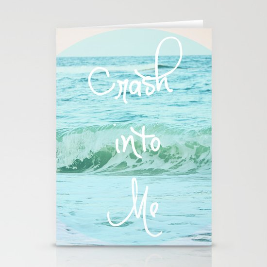Crash into Me Stationery Cards