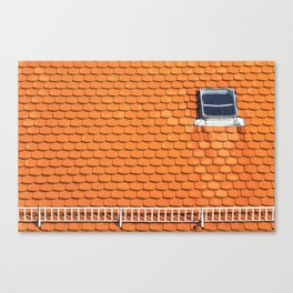 Tiled Roof After Summer Rain Canvas Print