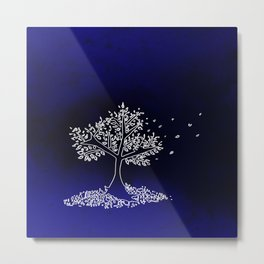 Wind On a Blue Day Metal Print