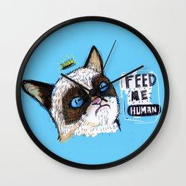 Feed me human: Grumpy Wall Clock