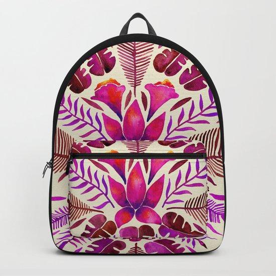 Tropical Symmetry – Magenta Backpack