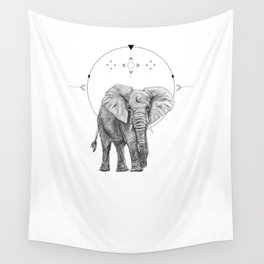 Elephant Love Wall Tapestry