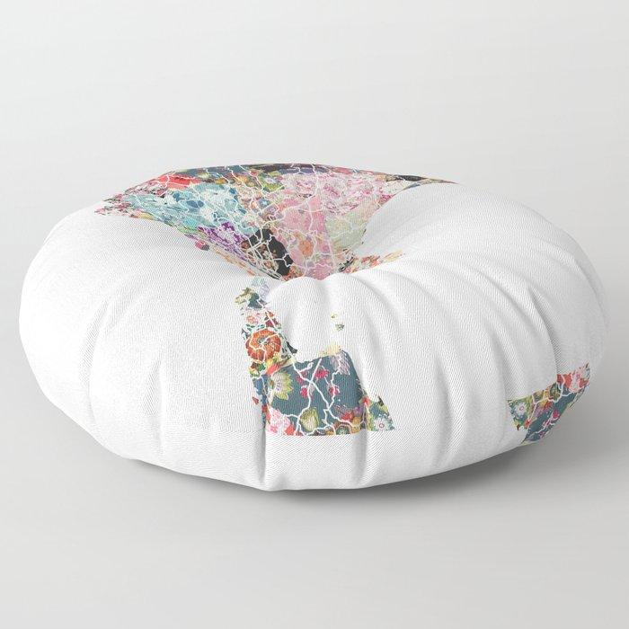 Thailand map Floor Pillow