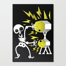 """Skele"" Monster Rock Canvas Print"