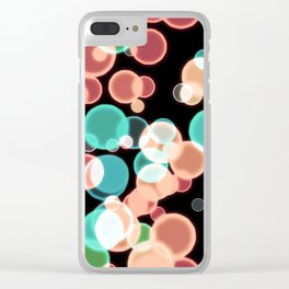 Multicolored Bubbles on a Black Background Clear iPhone Case