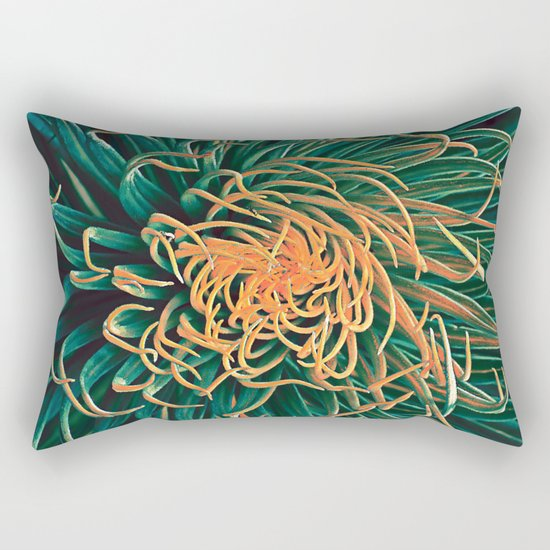Green & orange succulent Rectangular Pillow