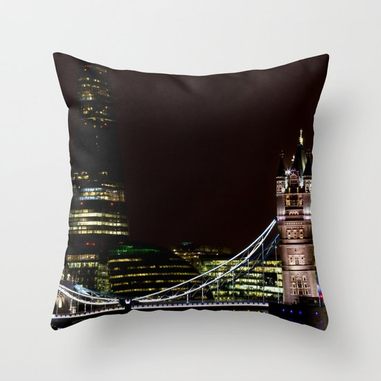 The Shard and Tower Bridge Throw Pillow