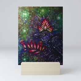 Desert Monarch Crow Mini Art Print