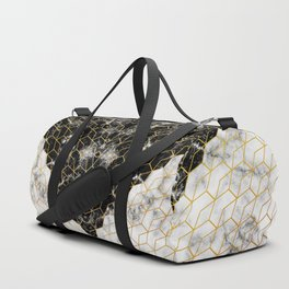 Black and white marble Duffle Bag