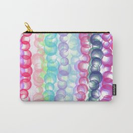 Modern abstract pink teal lilac watercolor dots Carry-All Pouch