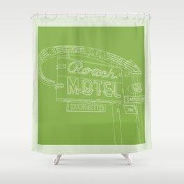 San Antonio Motel Series - Vintage Green Shower Curtain