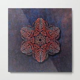 Distressed Metal Celtic Design Metal Print