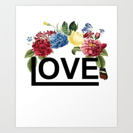 love floral Art Print