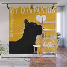 BOXER – My Companion - Golden Yellow Wall Mural