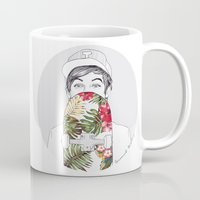 skate Mugs featuring L Skate by Coconut Wishes