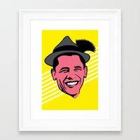 obama Framed Art Prints featuring Obama by artpuerto