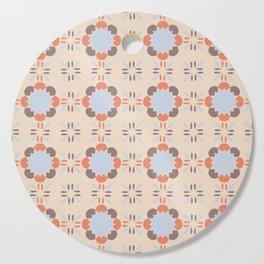 Blue Retro Tile Cutting Board
