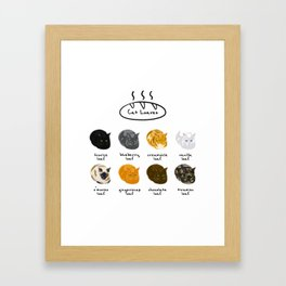 Cat Loaf Flavors Framed Art Print