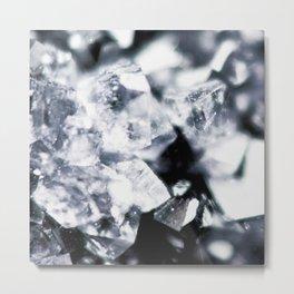 Geode Crystals Metal Print